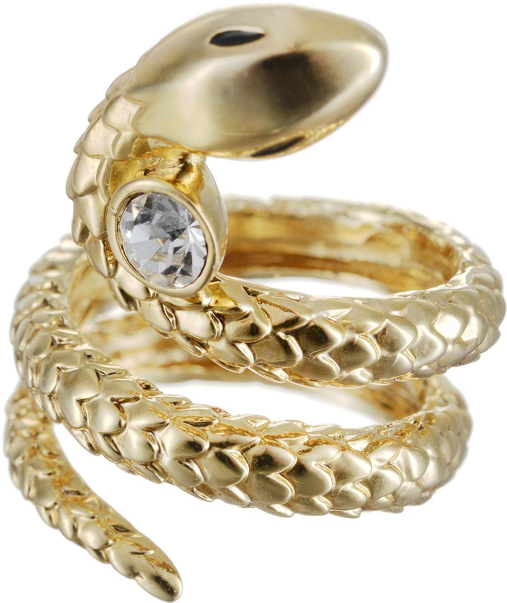 Кольцо Art-Silver, цвет: золотой. 527-300. Размер 17527-300Оригинальное кольцо Art-Silver выполнено из бижутерного сплава с гальваническим покрытием. Кольцо в виде змеи украшено декоративными вставками. Элегантное кольцо Art-Silver превосходно дополнит ваш образ и подчеркнет отменное чувство стиля своей обладательницы.
