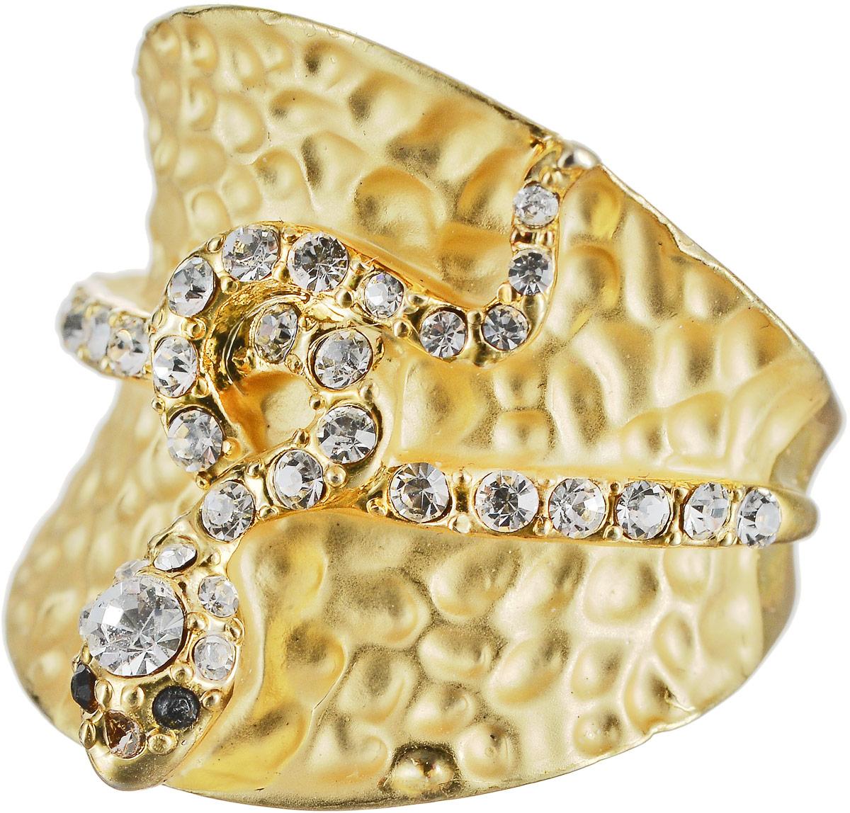 Кольцо Art-Silver, цвет: золотой. М341-540. Размер 17,5М341-540Оригинальное кольцо Art-Silver выполнено из бижутерного сплава с гальваническим покрытием. Кольцо украшено декоративными вставками. Элегантное кольцо Art-Silver превосходно дополнит ваш образ и подчеркнет отменное чувство стиля своей обладательницы.