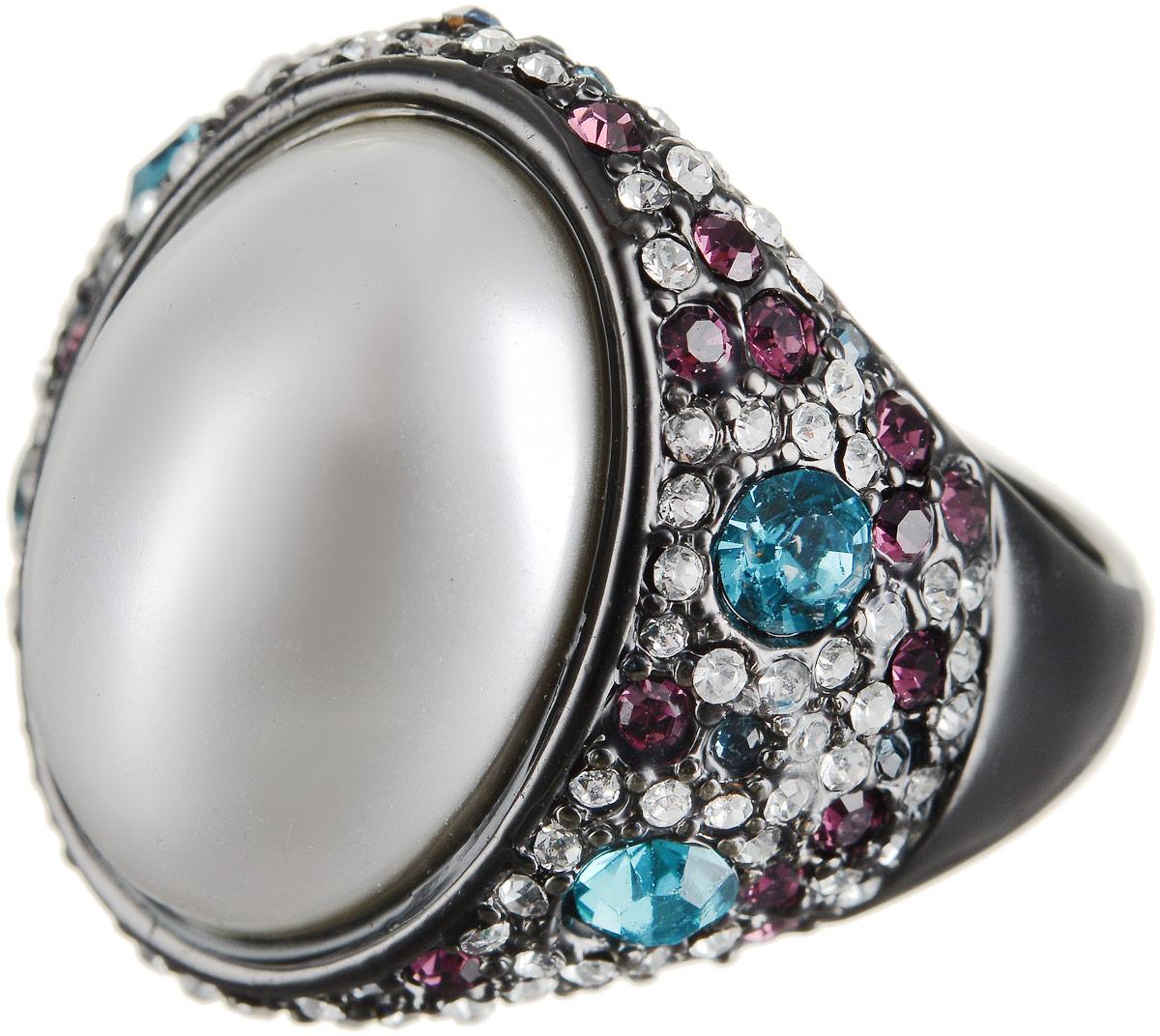 Кольцо Art-Silver, цвет: черный, перламутровый. 066079-601-1202. Размер 16,5066079-601-1202Оригинальное кольцо Art-Silver выполнено из бижутерного сплава с гальваническим покрытием. Кольцо украшено декоративными вставками. Элегантное кольцо Art-Silver превосходно дополнит ваш образ и подчеркнет отменное чувство стиля своей обладательницы.