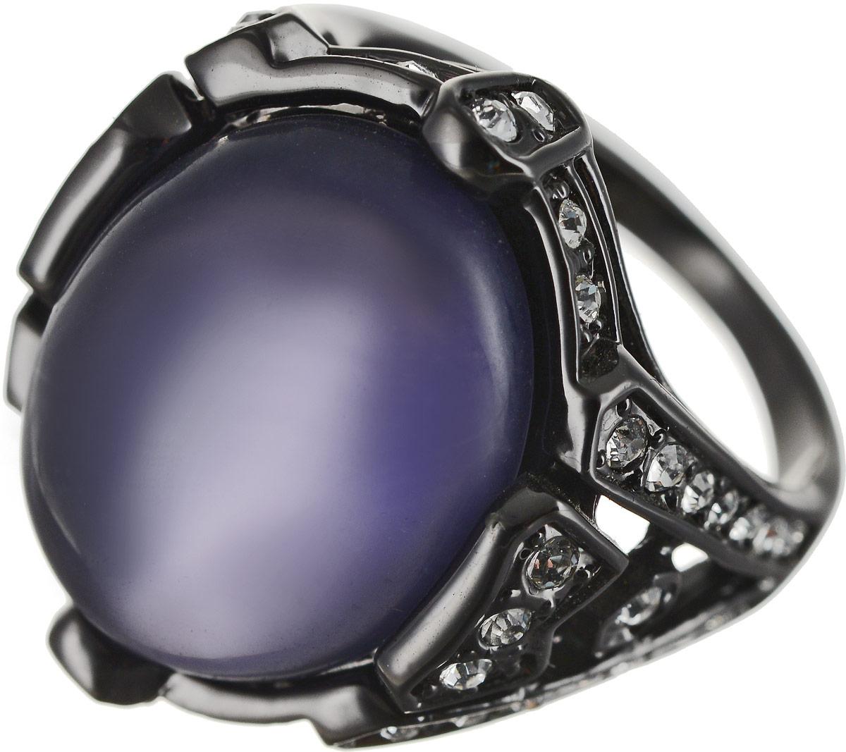 Кольцо Art-Silver, цвет: черный, фиолетовый. M756-635. Размер 18,5M756-635Оригинальное кольцо Art-Silver выполнено из бижутерного сплава с гальваническим покрытием. Кольцо украшено декоративными вставками. Элегантное кольцо Art-Silver превосходно дополнит ваш образ и подчеркнет отменное чувство стиля своей обладательницы.