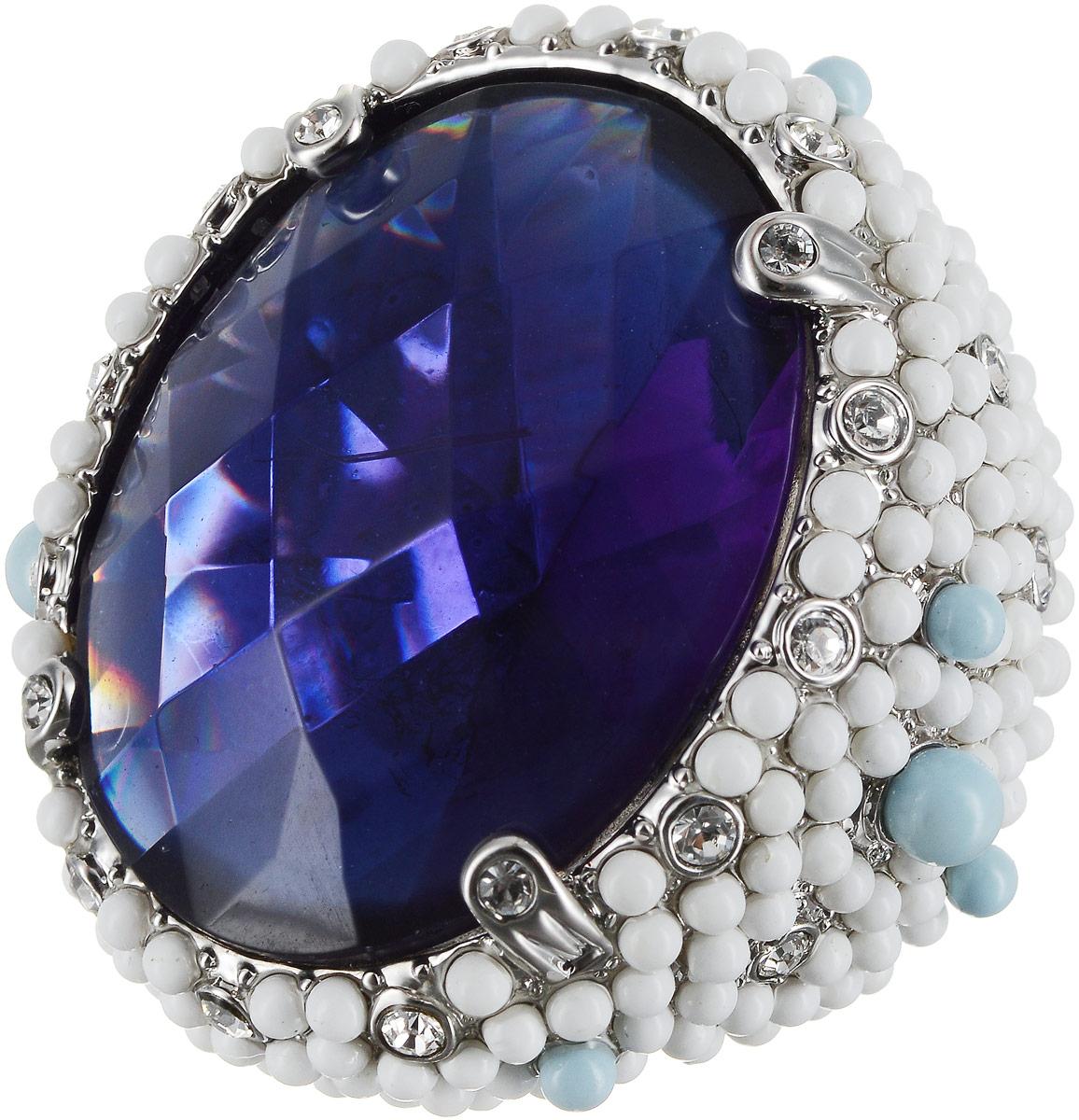Кольцо женское Art-Silver, цвет: серебряный. 428-2106. Размер 18428-2106Бижутерный сплав, полимер, куб.циркон.