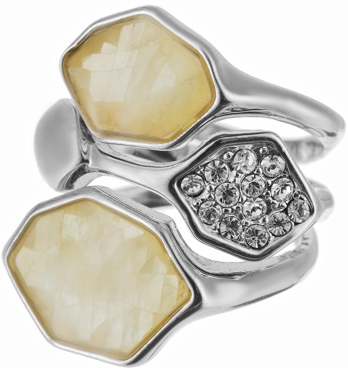 Кольцо женское Art-Silver, цвет: серебряный. ЛМ049491-703-721. Размер 17,5ЛМ049491-703-721Бижутерный сплав, куб.циркон, перламутр.