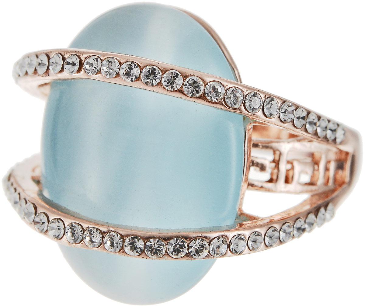 Кольцо женское Art-Silver, цвет: золотой. 064984-702-818. Размер 18064984-702-818Бижутерный сплав, кош.глаз, куб.циркон, золото 0,01мкрн.
