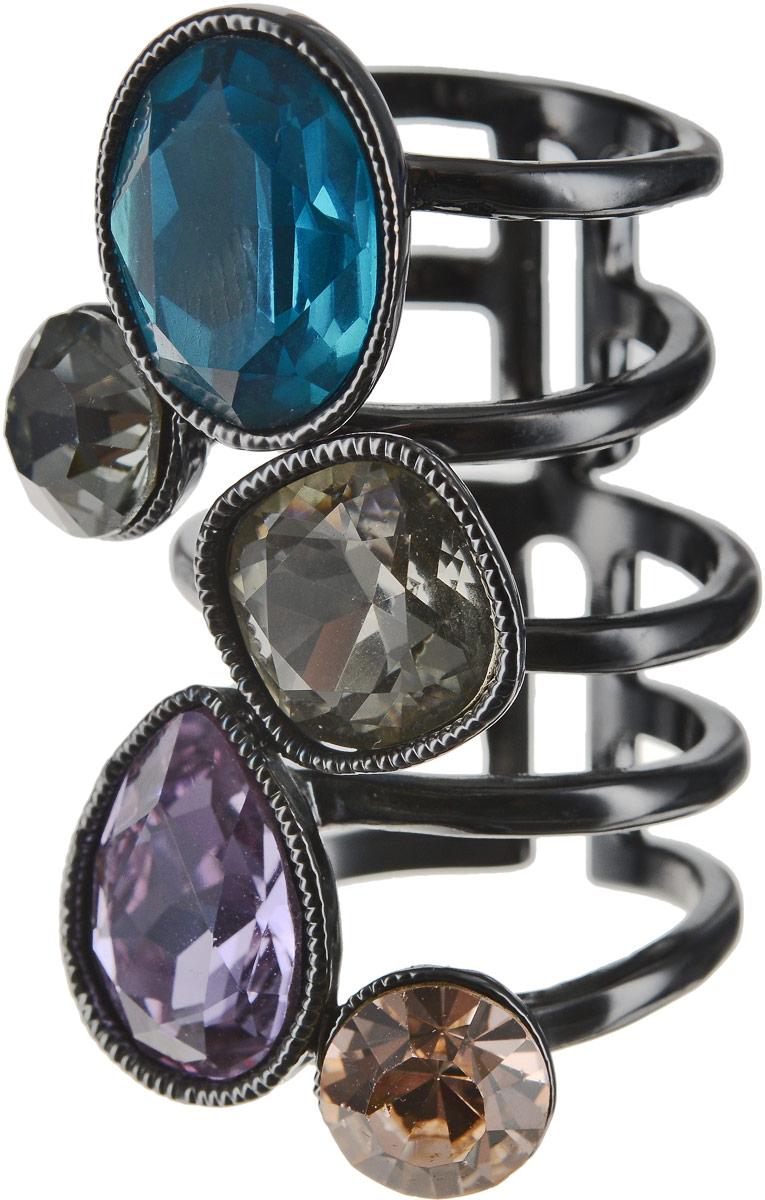 Кольцо женское Art-Silver, цвет: черный. 054912-1-1290. Размер 17,5054912-1-1290Бижутерный сплав, куб.циркон.