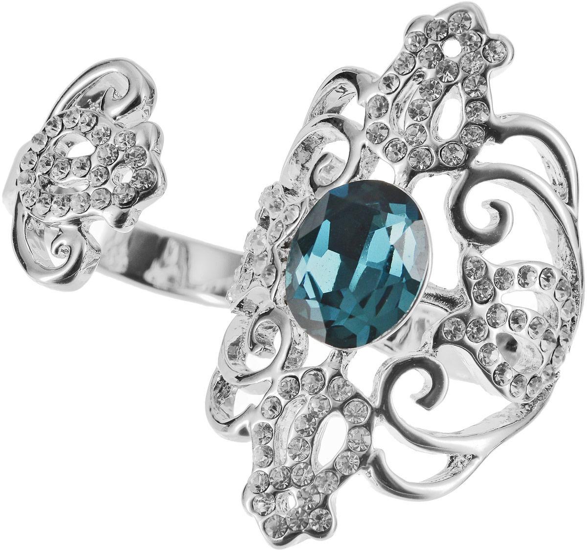 Кольцо Art-Silver, цвет: серебряный, бирюзовый. 06816-1319. Размер 17,506816-1319Оригинальное кольцо Art-Silver выполнено из бижутерного сплава с гальваническим покрытием. Кольцо на два пальца украшено декоративными вставками. Элегантное кольцо Art-Silver превосходно дополнит ваш образ и подчеркнет отменное чувство стиля своей обладательницы.