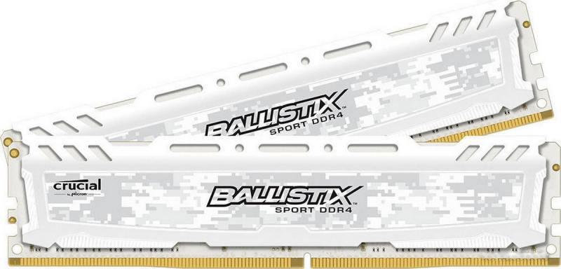 Crucial Ballistix Sport LT DDR4 32GB 2x16GB 2400МГц, White модуль оперативной памятиBLS2C16G4D240FSCКомплект модулей оперативной памяти Crucial Ballistix Sport LT типа DDR4 обеспечивает увеличенную рабочую частоту (по сравнению с предыдущем поколением) при сниженном тепловыделении и экономном энергопотреблении. Благодаря низкому напряжению (1,2 В), снижается потребление энергии, что обеспечивает отсутствие нагрева и бесшумную работу ПК. Теплоотвод выполнен из чистого алюминия, что ускоряет рассеяние тепла. Объем памяти 32 ГБ позволит свободно работать со стандартными, офисными и профессиональными ресурсоемкими программами, а также современными требовательными играми. Работа осуществляется при тактовой частоте 2400 МГц и пропускной способности, достигающей до 19200 Мб/с, что гарантирует качественную синхронизацию и быструю передачу данных, а также возможность выполнения множества действий в единицу времени. Параметры тайминга 16-16-16 гарантируют быструю работу системы. Имеется поддержка XMP 2.0 для удобного разгона в автоматическом режиме.