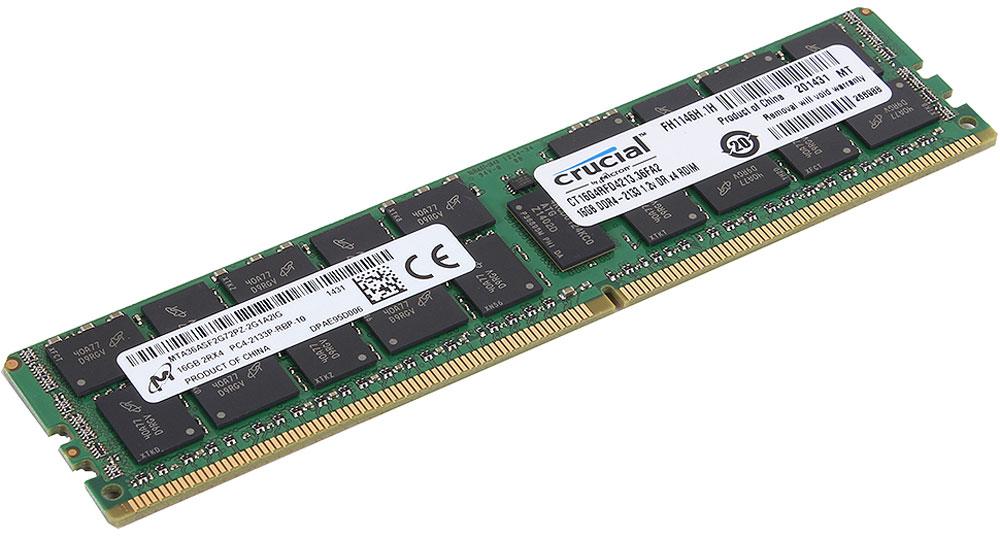 Crucial ECC Reg CL15 Dual Rank DDR4 16GB 2133МГц модуль оперативной памятиCT16G4RFD4213Модуль оперативной памяти Crucial CT16G4RFD4213 прекрасно подойдет для серверов, которые нуждаются в оперативной памяти с высокой производительностью. По сравнению с DDR3, оперативная память DDR4 предлагает удвоенную пропускную способность 25,6 Гб/с, при этом потребляя меньше питания (1.2 В). Crucial CT16G4RFD4213 совместима с процессорами Intel семейства Xeon Е3- 1200 V3 и е5-2600 V3. DDR4 обеспечивает повышенную производительность, увеличенную емкость DIMM, улучшенную целостность данных и пониженное энергопотребление. Crucial CT16G4RFD4213 достигает скорости до 2Гбит/с на контакт и потребляет меньше энергии, чем DDR3L (DDR3 с пониженным напряжением), обеспечивая до 50% роста производительности и скорости, а также снижая энергопотребление всей вычислительной среды. Она имеет ряд усовершенствований по сравнению с более старыми технологиями памяти и позволяет экономить до 40% энергии. В дополнение к оптимизированной производительности и...