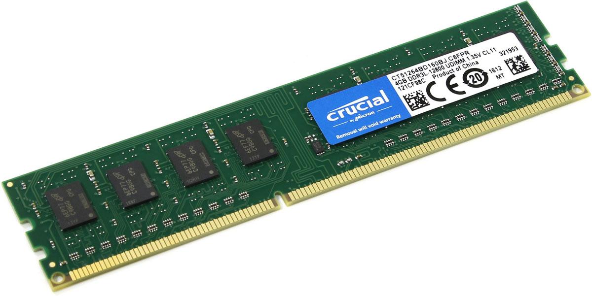 Crucial Single Rank DDR3 4GB 1600МГц модуль оперативной памяти CT51264BD160BJ