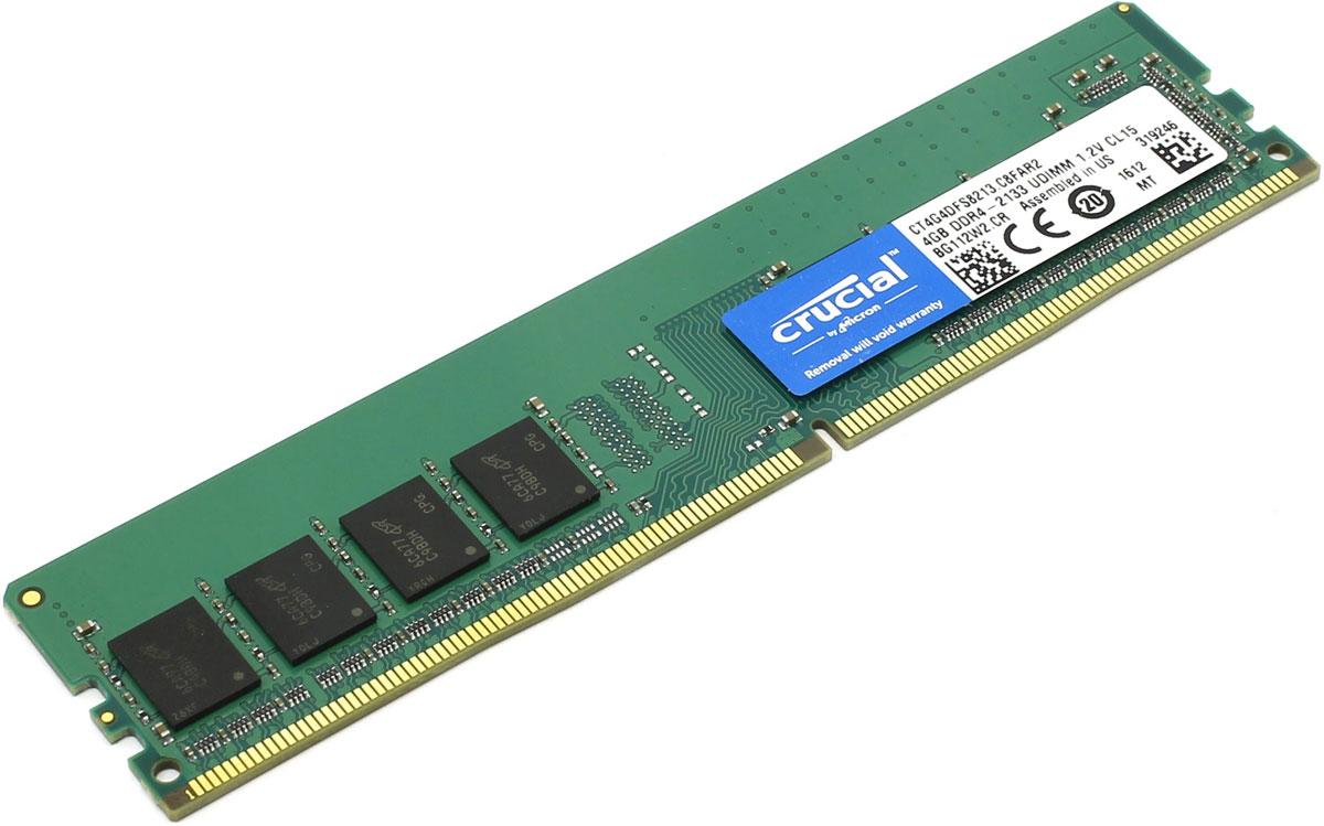 Crucial Single Rank DDR4 4GB 2133МГц модуль оперативной памятиCT4G4DFS8213При производстве оперативной памяти Crucial CT4G4DFS8213 использовались только передовые технологи, с использованием качественных и прочных материалов, которые после установки в системный блок позволят компьютеру работать быстро, плавно, без зависаний. DDR4 обеспечивает повышенную производительность, увеличенную емкость DIMM, улучшенную целостность данных и пониженное энергопотребление. Мощная начинка способна работать с частотой 2133 МГц, а пропускная способность достигает 17000 Мб/с. Объем памяти составляет - 4 гигабайта. Отличные характеристики, которые смогут удовлетворить потребности большинства пользователей.