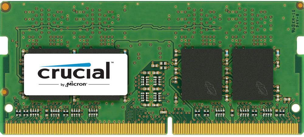 Crucial Single Rank SODIMM DDR4 4GB 2400МГц модуль оперативной памятиCT4G4SFS624AМодуль оперативной памяти для ноутбуков Crucial CT4G4SFS624A обеспечивает увеличенную рабочую частоту при сниженном тепловыделении и экономном энергопотреблении. Напряжение питания при работе составляет 1,2 В. При производстве оперативной памяти использовались только передовые технологи, с использованием качественных и прочных материалов, которые после установки позволят ноутбуку работать быстро, плавно, без зависаний. Мощная начинка способна работать с частотой 2400 МГц, а пропускная способность достигает 19200 Мб/с. Объем памяти составляет - 4 гигабайта. Отличные характеристики, которые смогут удовлетворить потребности большинства пользователей.