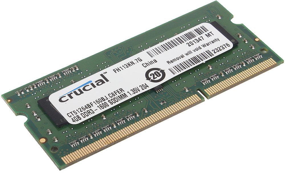 Crucial SODIMM DDR3 4GB 1600МГц модуль оперативной памяти