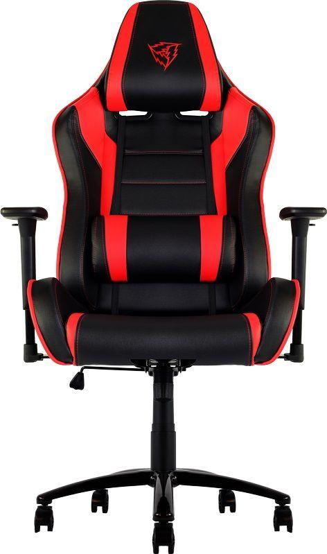 ThunderX3 TX3-30, Black Red профессиональное геймерское креслоTX3-30BRМягкое комфортное геймерское кресло ThunderX3 TX3-30 имеет регулируемые подушки для шеи и поясницы. Подушку под шею возможно использовать по-разному, она позволяет шее отдыхать, поддерживая контуры вашей головы. Качаться вперед назад с любой силой и интенсивностью позволяет специально разработанный механизм. Садитесь прямо, откиньтесь назад либо повторяйте оба движения в заданном ритме. В кресле вам будет максимально комфортно даже при длительных игровых сессиях. Прочная металлическая основа Мягкий кожзам Тип механизма бабочка Пневматическая регулировка высоты сиденья 60 мм нейлоновые колесики Регулируемый подголовник Подушка под шею Регулирование положение сиденья с фиксацией Угол наклона спинки 3° - 18°.