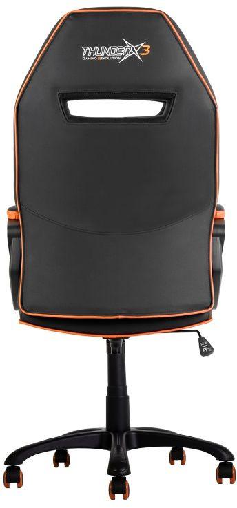 ThunderX3 TX3-10, Black Orange профессиональное геймерское креслоTX3-10BOПрочная металлическая основа. Мягкий кожзам. Тип механизма бабочка. Пневматическая регулировка высоты сиденья. Угол раскачивания 3° - 18°. 50 мм нейлоновые колесики.