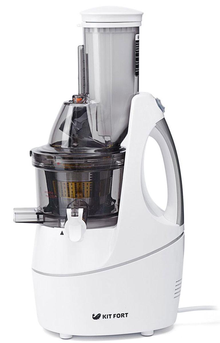 Kitfort КТ-1104-1 соковыжималка электрическаяКТ-1104-1Шнековая соковыжималка Kitfort КТ-1104 позволяет отжимать максимально возможное количество сока из фруктов, овощей и зелени с сохранением всех его полезных компонентов: витаминов, аминокислот и минералов. Сок во время отжима не нагревается и не окисляется. Соковыжималка легко собирается и просто моется после работы. Шнековая соковыжималка использует технологию низкоскоростного отжима в отличие от технологии измельчения и последующего отжима сока при помощи центрифуги, применяемой в центробежных соковыжималках. Технология низкоскоростного отжима (Low Speed Technology System, LSTS) позволяет извлечь максимальное количество питательных веществ, витаминов и ферментов из минимального количества исходного продукта, например из фруктов, овощей или зелени. В отличие от обычной центробежной высокоскоростной соковыжималки, работающей при 1000-24000 об/мин и потребляющей до 1500 Вт электроэнергии, шнековая соковыжималка работает на низких скоростях вращения, ...