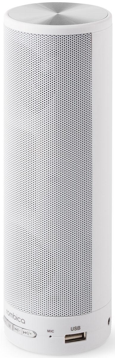 Rombica MySound BT-05 портативная акустикаSBT-00050Портативная акустическая система Rombica MySound BT-05 совместима со всеми популярными устройствами с поддержкой Bluetooth. Помимо этого она может воспроизводить MP3 и WAV файлы с USB и microSD накопителей. Также колонку можно использовать через AUX-подключение. Встроенный сабвуфер дает глубокий и насыщенный бас. Емкий аккумулятор 1200 мАч обеспечивает долгую работу. MySound BT-05 имеет встроенный микрофон для приема звонков.