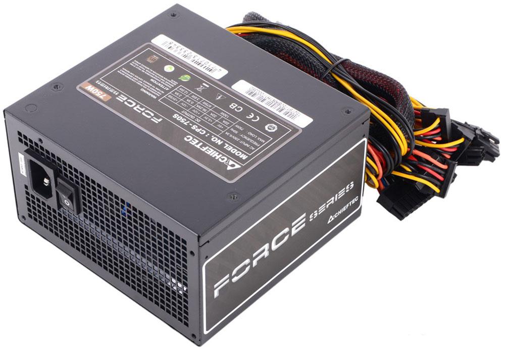 Chieftec CPS-750S блок питания для компьютера4710713233348Блок питания Chieftec CPS-750S предназначен для пользователей-энтузиастов. Вновь спроектированная вентиляционная сетка обеспечивает значительное улучшение воздушного потока, в то время как 120-мм сверхтихий вентилятор имеет оптимизированный контроль температуры. С КПД 85%, она защищает окружающую среду и кошелек. Для безопасности и долговечности блока питания и вашего компьютера предусмотрена защита от перенапряжений, перегрузок и короткого замыкания в цепи.