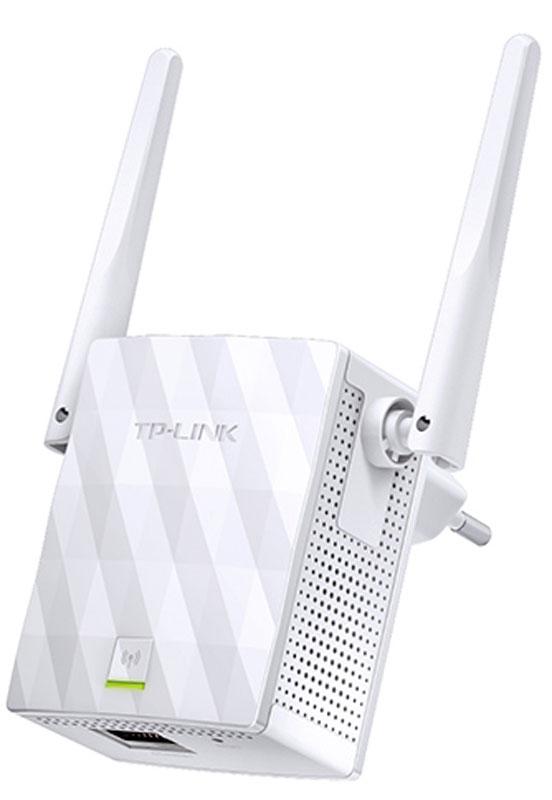 TP-Link TL-WA855RE усилитель беспроводного сигналаTL-WA855REНесмотря на компактный размер TP-Link TL-WA855RE не останется незамеченным благодаря его впечатляющим возможностям передавать Wi-Fi в ранее недоступных частях вашего дома. TL-WA855RE поддерживает скорость Wi- Fi до 300 Мбит/с и позволяет вашим устройствам работать на максимальной скорости. Две внешние MIMO-антенны выделяют TP-Link TL-WA855RE от прочих устройств. Технология MIMO способна улучшить производительность сети, увеличивая скорость Wi-Fi ,а две антенны обеспечат стабильный беспроводной сигнал, который достигнет каждого уголка вашего дома. Нажмите кнопку WPS на маршрутизаторе, после чего нажмите кнопку Range Extender на TL-WA855RE, чтобы воспользоваться быстрой расширенной сети Wi-Fi. Умный светодиодный индикатор подскажет наиболее подходящее место для размещения устройства.