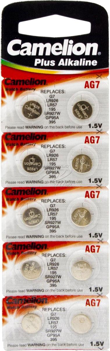 Батарейки Camelion G7, щелочные, дисковые, 10 шт.1554
