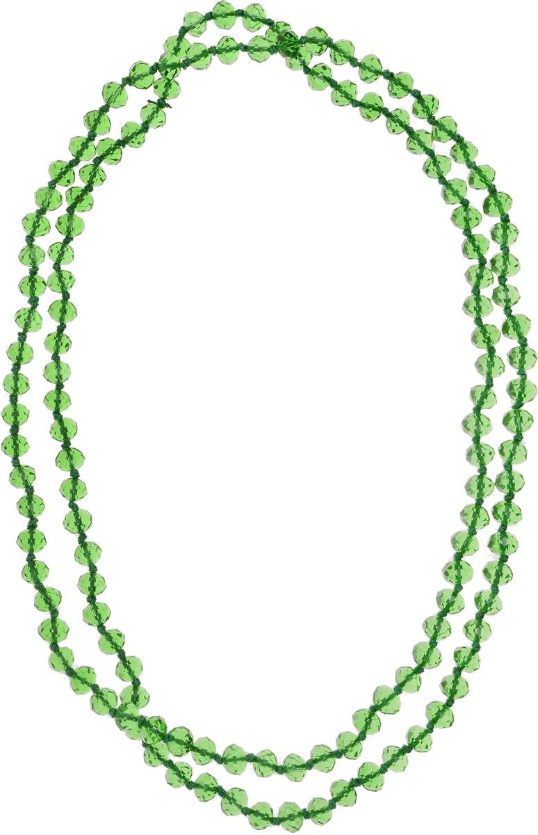 Бусы Револю Драгоценное сияние, цвет: зеленый. НХР-51(8)-110-13-GWLНХР-51(8)-110-13-GWLПереливающиеся хрустальные камни порой выглядят так же роскошно, как лучшие дорогостоящие камни высших сортов. Зачем же тогда тратить целое состояние, если можно недорого купить вот такую мерцающую роскошь?! Нарядные украшения из хрусталя окружат вас ореолом счастья и очарования!