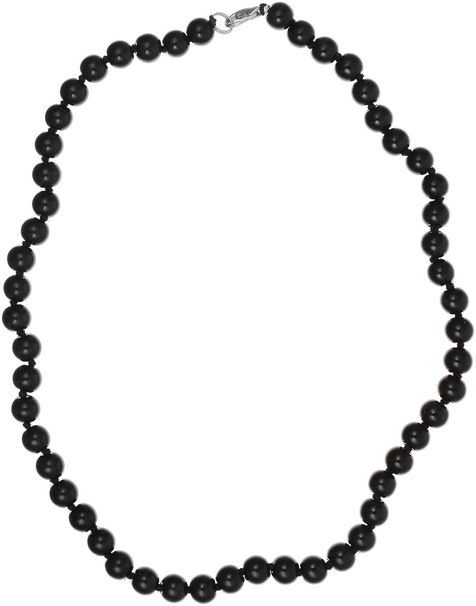 Бусы Револю Классика № 8, цвет: черный. ИАГ-1(8)-60-4уИАГ-1(8)-60-4уМногоцветные агаты выглядят в украшениях маняще! Прозрачные их слои чередуются с непрозрачными, отчего кажется, будто удивительные агаты знают какую-то загадку! Окружите свой образ чарующим сиянием волшебства - примерьте это эффектное украшение с великолепными агатами!