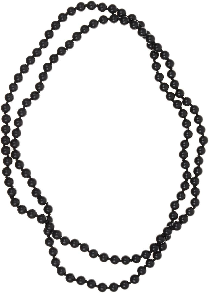 Бусы Револю Классика № 8, цвет: черный. ИАГ-1(8)-120-4ИАГ-1(8)-120-4Цветные агаты выглядят в украшениях интригующе! Прозрачные их слои чередуются с непрозрачными, отчего кажется, будто волшебные агаты знают какую-то тайну! Окружите свой образ чарующим сиянием волшебства - примерьте это диковинное украшение с невероятными агатами!