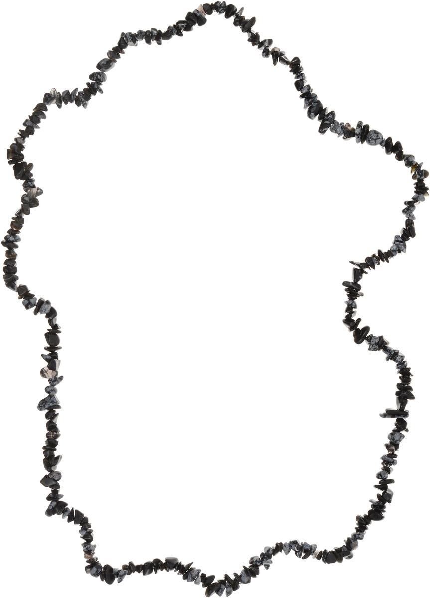 Бусы Револю Забава, цвет: черный. НОБ-75-90-3НОБ-75-90-3Обсидиан - это вулканический камень. И как положено камню, рождённому в огненной лаве, он необычайно тёплый, и никогда не бывает ледяным! Каждое украшение из чудесного вулканического обсидиана - это целый костёр страсти и эмоций! Почувствуйте горение чувств в своём сердце - примерьте это дивное украшение из обсидиана!