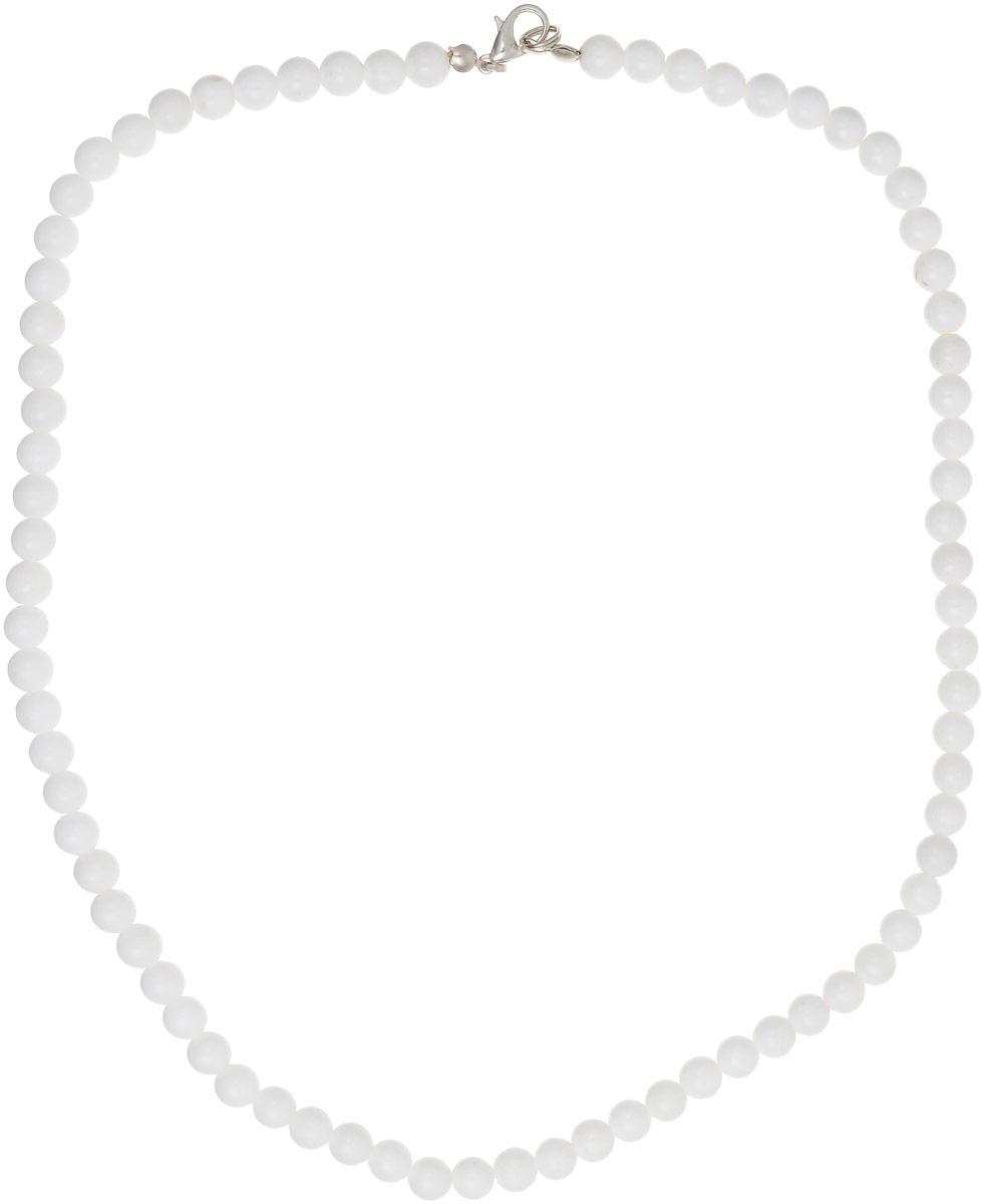 Бусы Револю Классика № 6, цвет: белый. НКХ-1(6)-45-1НКХ-1(6)-45-1Снежный кахолонг - любимец женщин всего Востока! Он считается одним из женских талисманов, но в нём есть и ещё одно свойство - он потрясающе смотрится в ювелирных украшениях! Светлый и романтичный, великолепный кахолонг наполняет образ свежестью и очарованием сияющей молодости!