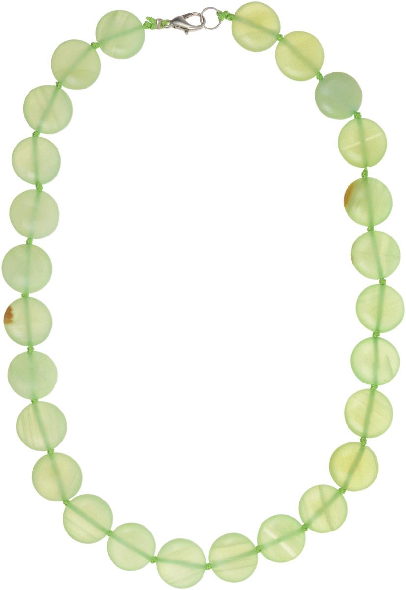 Бусы Револю Рондо, цвет: зеленый. НОН-11(15)-45-1НОН-11(15)-45-1Великолепный оникс - это камень нарядный, изысканный! Ониксовые украшения - это не просто хорошенькие вещички, это стиль, это образ жизни! Желаете ли вы выглядеть урождённой принцессой в любой ситуации, быть всегда прекрасной и стильной? Самое простое решение - это всегда носить чудесные изделия из оникса!
