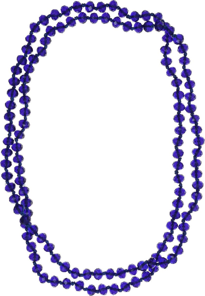 Бусы Револю Драгоценное сияние, цвет: синий. НХР-51(8)-150-10НХР-51(8)-150-10Бусы длинные граненые из хрусталя. Диаметр бусин 8 мм, длина бус 110 см. Вы любите яркие цвета в одежде? А хотите, чтобы ваш образ был ещё ярче, но при этом оставался бы благородным? Чтобы быть яркой, не обязательно наряжаться в красное с ног до головы - куда эффектнее и заметнее выглядят контрастные сочетания в ансамблях! Если у вас много ярких и броских платьев, то лучшим - самым стильным, и что немаловажно, самым экономичным дополнением к ним будут аксессуары синего цвета! Синий цвет - очень насыщенный, интенсивный, с ним рядом любой цвет будто в
