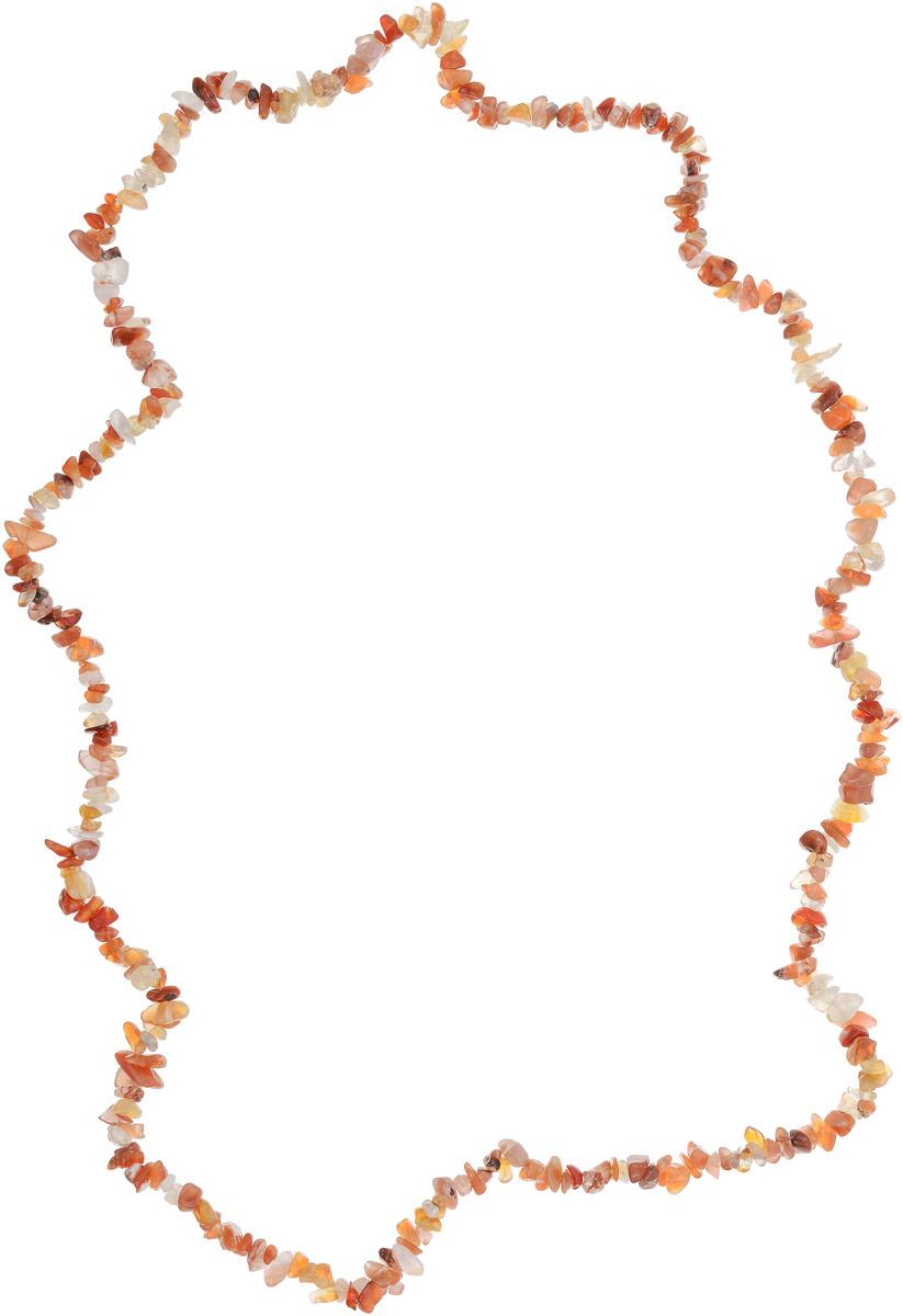 Бусы Револю Забава 2, цвет: оранжевый. НСР-75-90-4НСР-75-90-4Солнечный сердолик выглядит так притягательно и игриво! Каждое сердоликовое украшение дарит сердцу радость, а вам - удивительную красоту! Нарядные и выразительные цвета тёплого сердолика придают каждой женщине на редкость чарующий вид - перед такой красотой растает лёд даже самого холодного мужского сердца!