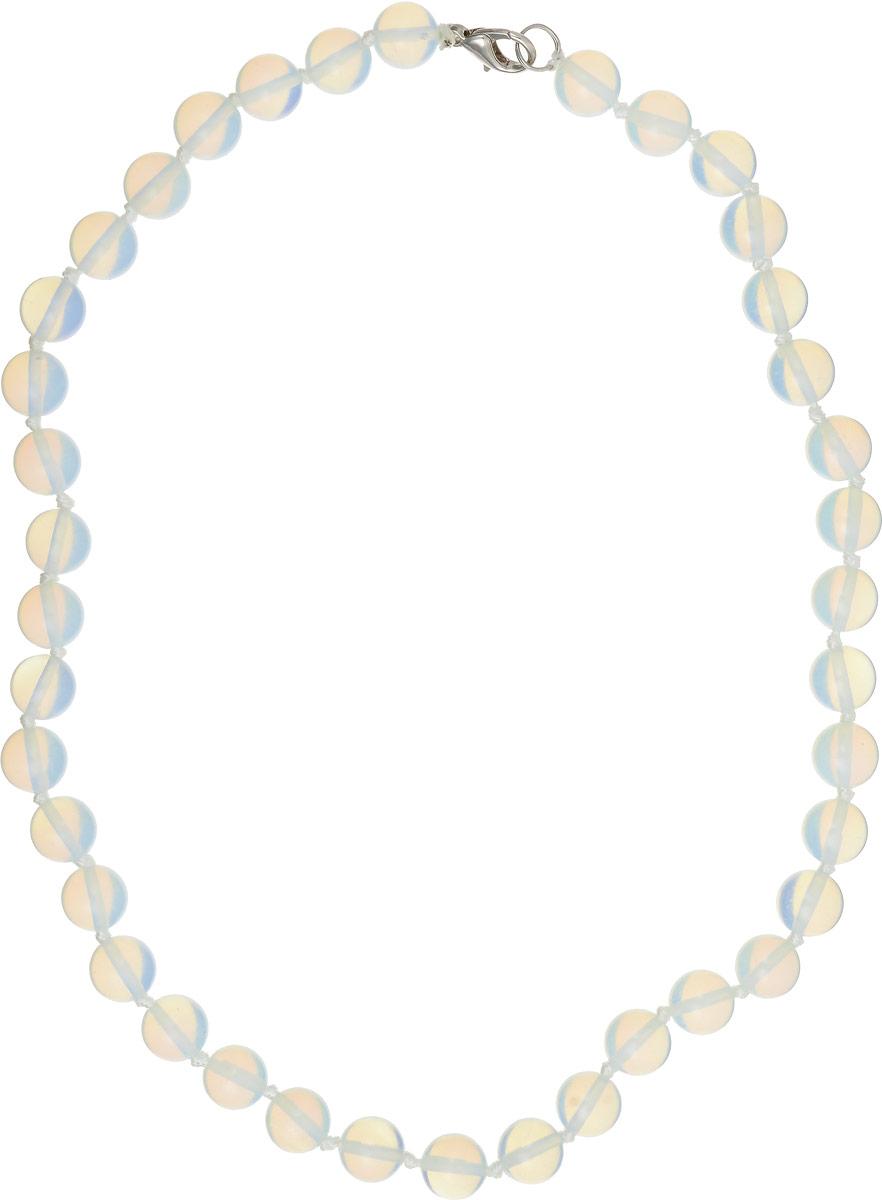 Бусы Револю Классика № 10, цвет: белый. НЛК-1(10)-45-1НЛК-1(10)-45-1Загадочный лунный камень действительно кажется сотканным только из света - он так маняще блестит и переливается! Его невесомое сияние придаёт вашему облику особенную утончённость и таинственность! Волшебные украшения из бесподобного лунного камня - это секрет вашего обаяния, загадка вашей прелести!