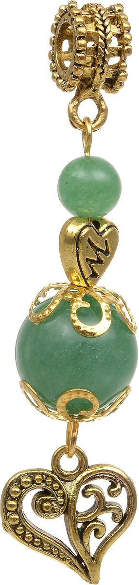 Кулон Револю На любовь, цвет: зеленый. пд-кам2357пд-кам2357