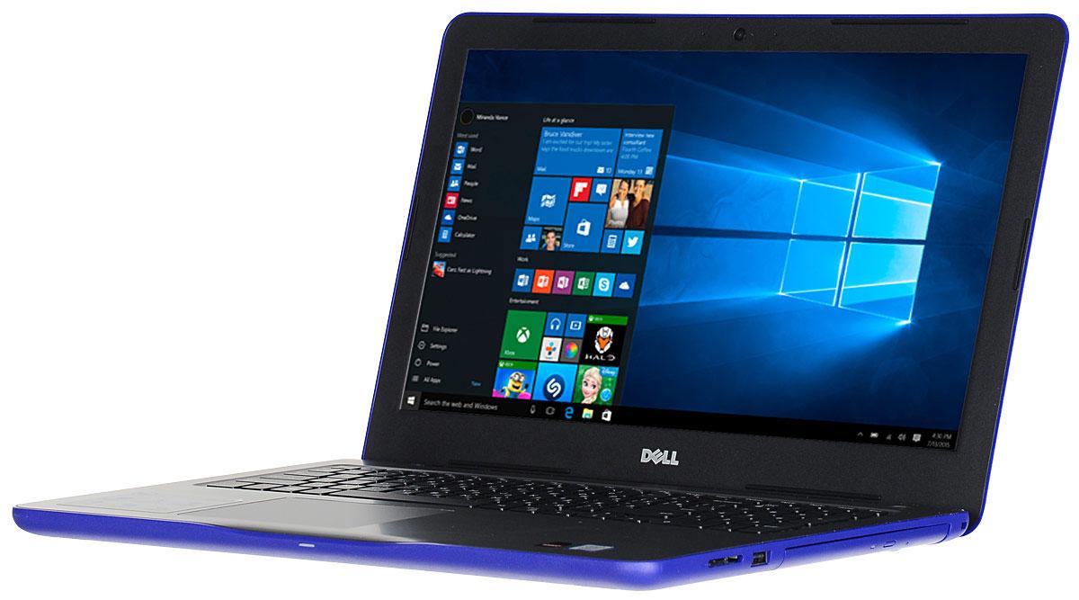 Dell Inspiron 5567-7959, Blue5567-7959Производительный процессор шестого поколения Intel Core i3, стильный дизайн и цвета на любой вкус - ноутбук Dell Inspiron 5567 - это идеальный мобильный помощник в любом месте и в любое время. Безупречное сочетание современных технологий и неповторимого стиля подарит новые яркие впечатления. Сделайте Dell Inspiron 5567 своим узлом связи. Поддерживать связь с друзьями и родственниками никогда не было так просто благодаря надежному WiFi-соединению и Bluetooth, встроенной HD веб-камере высокой четкости, ПО Skype и 15,6-дюймовому экрану, позволяющему почувствовать себя лицом к лицу с близкими. 15,6-дюймовый экран с разрешением HD ноутбука Dell Inspiron оживляет происходящее на экране, где бы вы ни были. Вы можете еще более усилить впечатление, подключив телевизор или монитор с поддержкой HDMI через соответствующий порт. Возможно, вам больше не захочется покупать билеты в кино. Выделенный графический адаптер AMD Radeon R7 M440 позволяет...