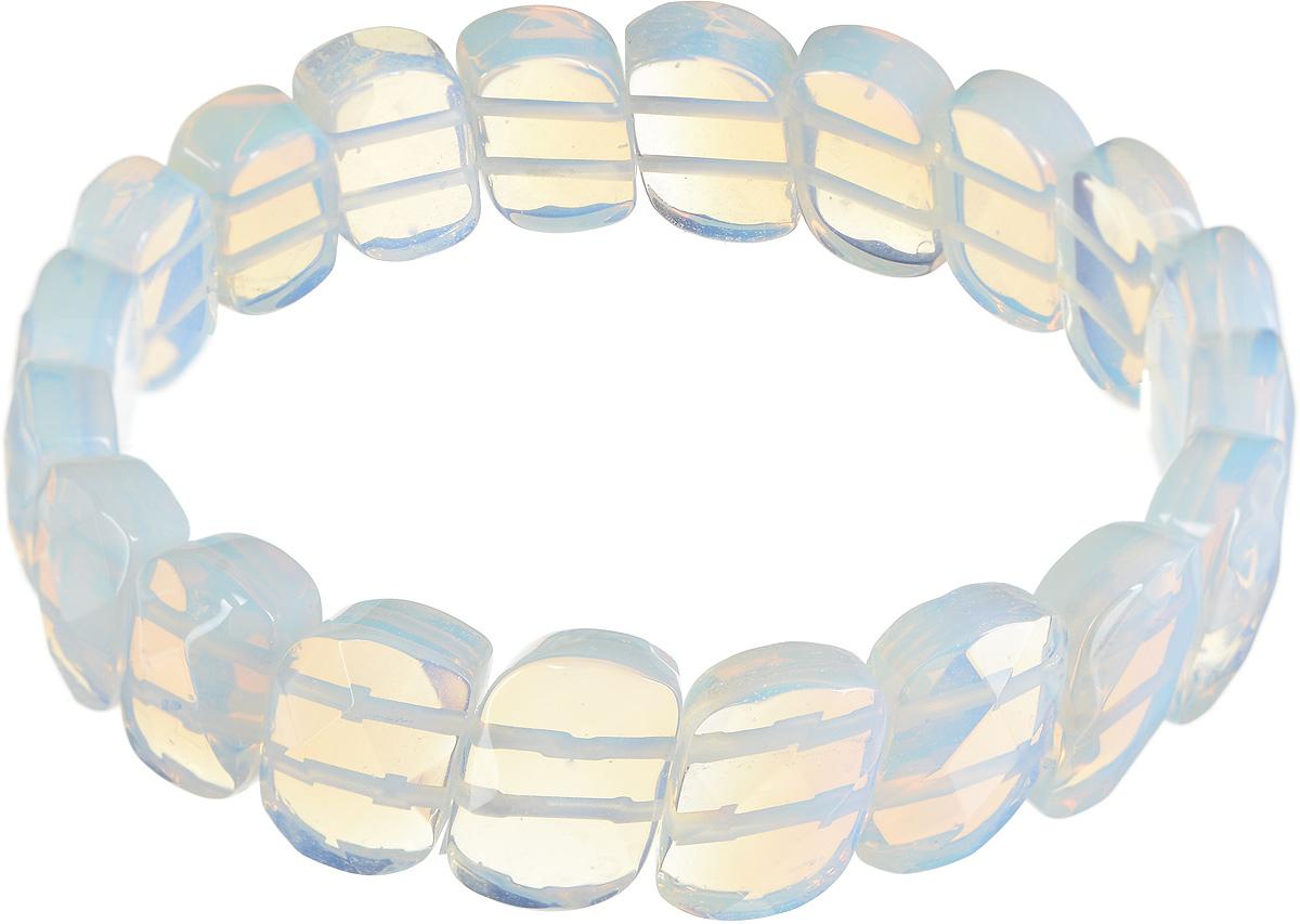 Браслет Револю Испаньола, цвет: голубой. бНЛК-59(14-10)-1бНЛК-59(14-10)-1Удивительный лунный камень действительно кажется сотканным только из света - он так чарующе мерцает и переливается! Его нереальное сияние придаёт вашему облику особенную утончённость и таинственность! Волшебные украшения из великолепного лунного камня - это секрет вашего очарования, тайна вашей красоты!