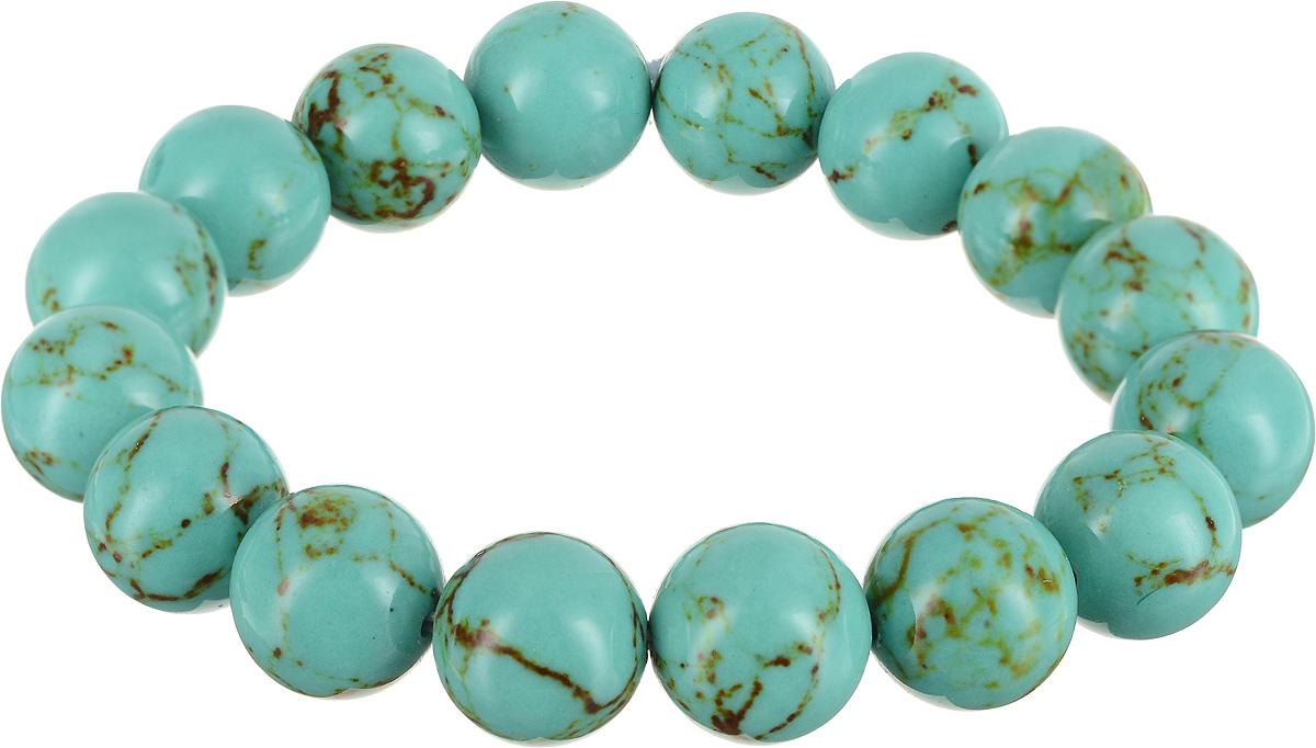 Браслет Револю Классика 12, цвет: голубой. бИБР-1(10)-3-1бИБР-1(10)-3-1Натуральная бирюза относится к довольно редким, и потому весьма дорогим камням. Но как украшает голубая бирюза наших северных голубоглазых красавиц! Для тех, кому не по карману дорогостоящая природная бирюза, мы предлагаем аналоги. Это имитация бирюзы, созданная из качественного пластика, стекла, а также недорогой бирюзовой крошки.