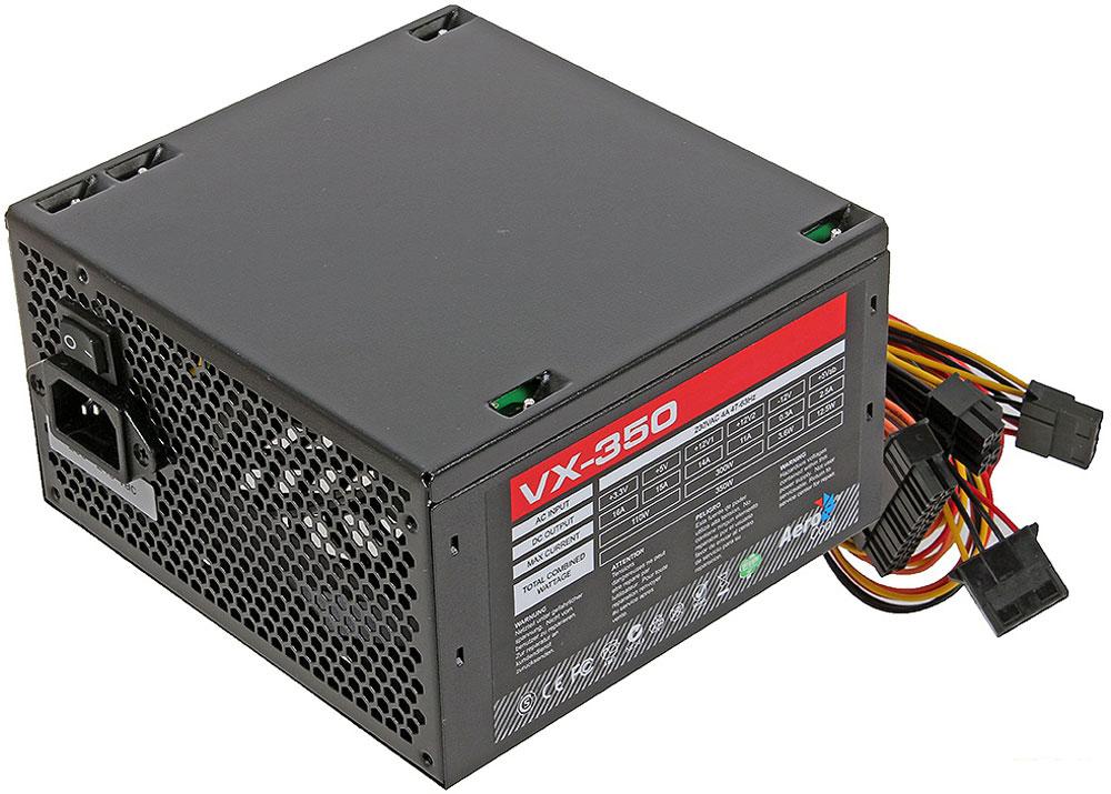Aerocool VX-350W блок питания для компьютера4713105953534Aerocool VX-350W - это эффективный, надёжный и недорогой блок питания с низким уровнем шумов и помех. Блоки питания линейки VX - самые доступные в ассортименте Aerocool и предназначены для систем начального уровня. Они собраны из высококачественных компонентов и обеспечивают стабильное и надёжное питание для всего системного блока. Хотя устройства линейки VX предназначены для сборки систем начального уровня, Aerocool снабдила их всем необходимым. БП VX работает без шумов и помех, защищён от перепадов напряжения в сети и оборудован 12-см вентилятором с умным управлением скоростью вращения.