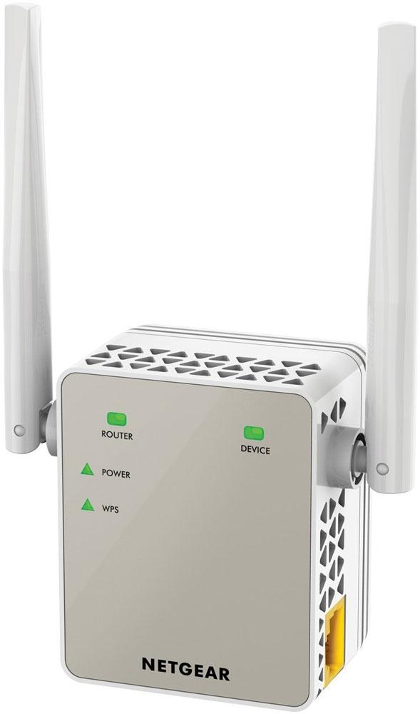 Netgear EX6120-100PES повторитель беспроводного сигналаEX6120-100PESПовторитель беспроводного сигнала Netgear EX6120-100PES увеличит зону покрытия вашей существующей WiFi сети, обеспечив двухдиапазонный WiFi сигнал на скорости до 1200 Мбит/с. Устройство работает со всеми стандартными WiFi роутерами и идеально подходит для передачи потокового HD-видео и он-лайн игр. Этот усилитель очень компактный и подключается к настенной розетке. Обеспечьте стабильное подключение ваших мобильных устройств в любом уголке дома. Режим усилителя для расширения существующей WiFi сети. Режим точки доступа для создания новой зоны WiFi АС стандарта. Используйте 2 частотных диапазона, чтобы добиться суперскоростного соединения. Идеальное решение для потокового видео и онлайн игр. Подключайте к своей WiFi-сети проводные устройства, такие как игровая приставка, телевизор или медиаплеер. Компактный и незаметный усилитель Netgear EX6120-100PES, подключающийся к настенной розетке, легко впишется в домашнюю обстановку.