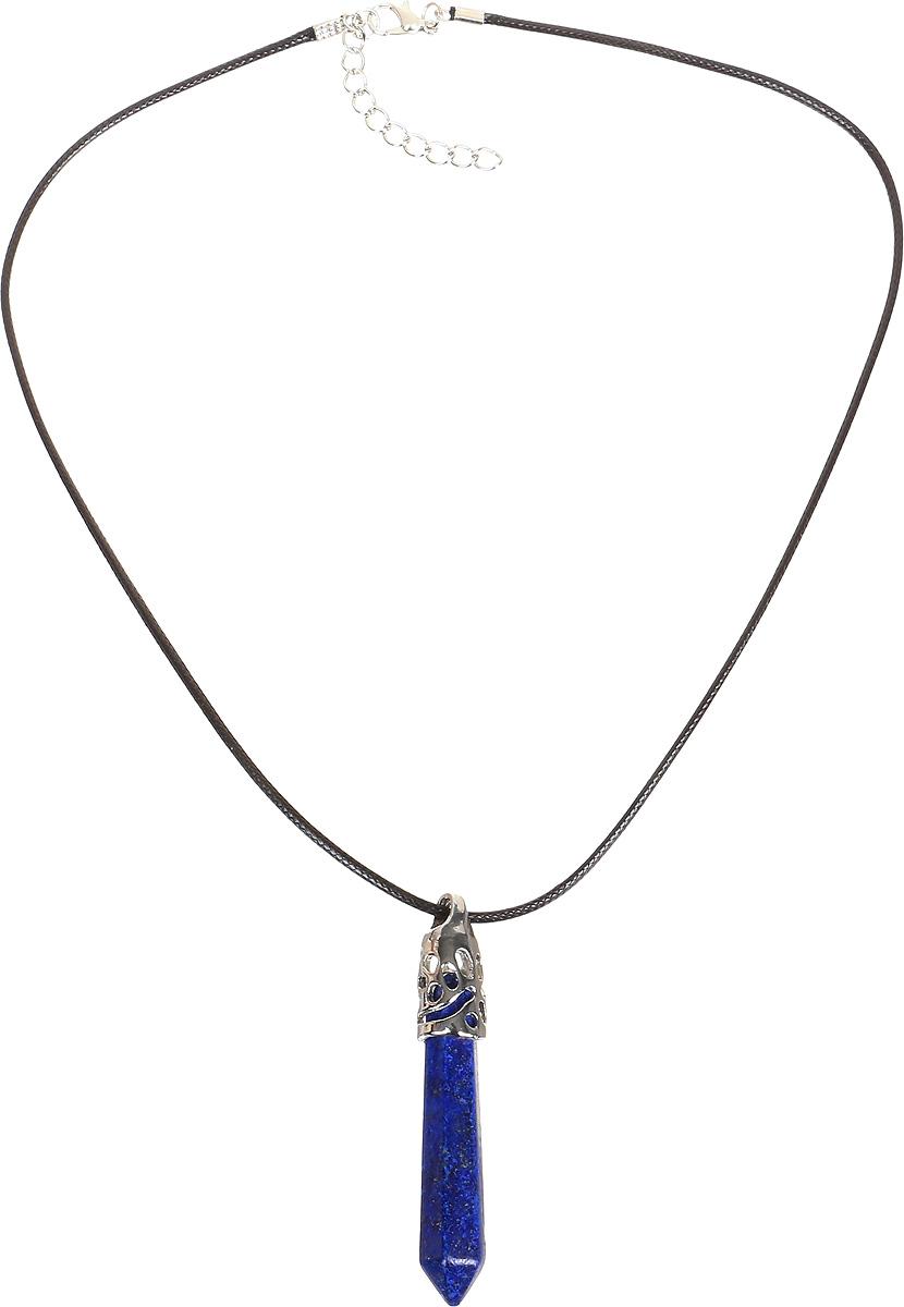 Кулон Револю Кристалл, цвет: синий. пд-кам1707пд-кам1707Кулон в комплекте со шнурком. Длина шнурка 45 см и удлиняющая цепочка 4 см. Драгоценный лазурит - это не просто камень, это дар добрых богов, если верить древним легендам! Каждый изумительный камешек лазурита действительно похож на осколок высокого неба. Примерьте это чудесное украшение из осколков неба - ощутите себя истинной небесной богиней!