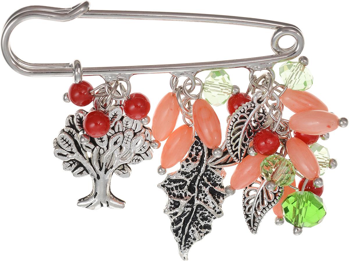 Брошь Револю Флорентина, цвет: розовый. БШкам-757БШкам-757Размер броши-булавки: 1,4 х 5,0 см. Размер с подвеской: 4,6 х 5,0 см. Прекрасный коралл - камень удивительный! Это ведь и не камень совсем, а органическое вещество - именно поэтому он такой приятный! С давних пор красивые морские кораллы считались великолепным украшением для женщин. Не пропала любовь к кораллам и сейчас - в нашем каталоге всегда большой выбор модных коралловых украшений!