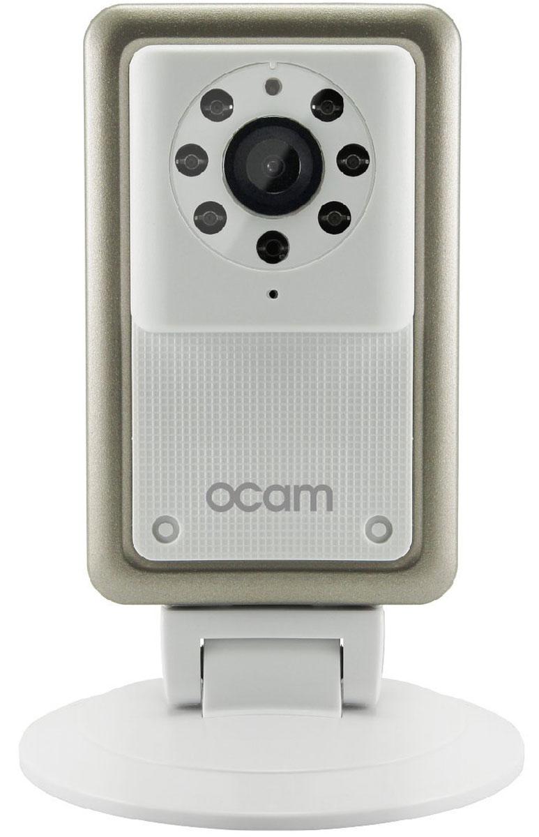 OCam-M2, White IP-камераOCAM-M2+WhiteС камерой OCam-M2 у вас появится возможность присмотреть за своим домом, маленьким ребенком, пожилыми людьми и даже домашним питомцем. Строгий дизайн и удобная для дома или офиса камера наблюдения. Инженеры предусмотрели различные сценарии использования камеры, поэтому пользователю доступны несколько режимов работы. Переключаться между ними можно в один клик. Записанные видеофайлы и фотографии сохраняются на карту памяти microSD. Когда возникает движение или звук, камера активирует системы распознавания, после чего вы сразу получите уведомление в виде звонка или письма на электронную почту. Благодаря инфракрасной подсветке вы получите четкое изображение даже в условиях плохого освещения. Широкий угол обзора в 120° дает больший охват получаемого изображения, поэтому вы сможете наблюдать, к примеру, не только за ребенком, но и за окружающей его обстановкой во всей комнате. Наличие встроенного микрофона и динамика позволяет вам общаться с...
