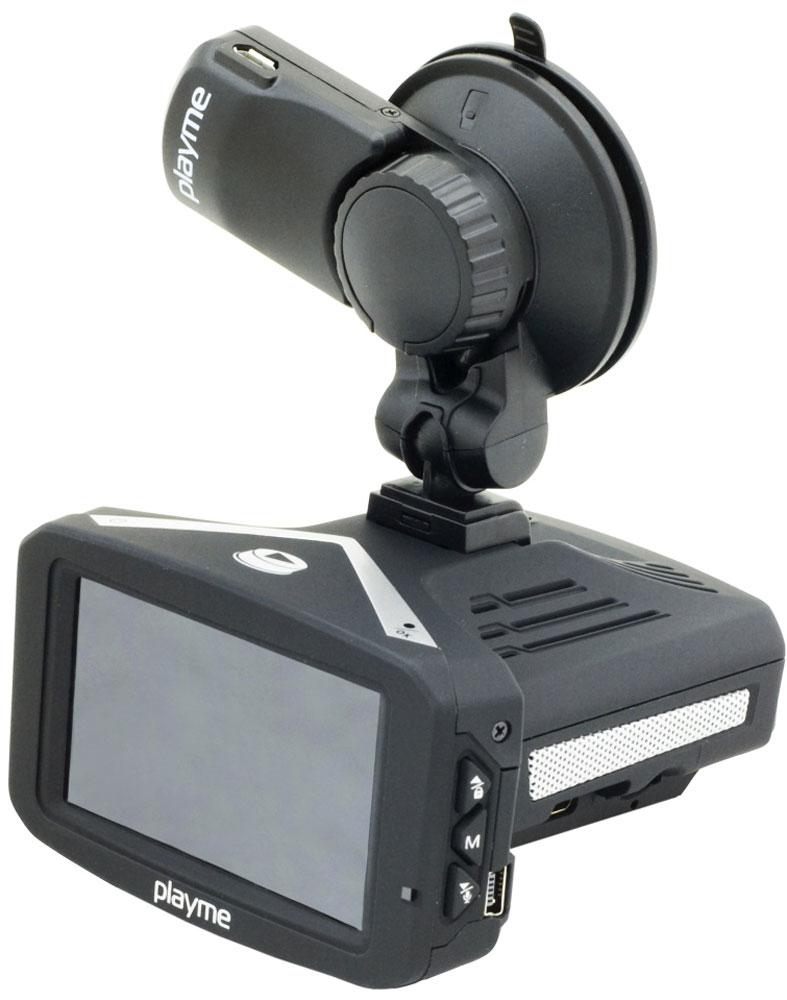 PlayMe P300 Tetra видеорегистратор с радар-детекторомPlayMe-P300PlayMe P300 Tetra - компактный, стильный, многофункциональный - видеорегистратор с радар-детектором на базе самого современного видеопроцессора Ambarella A7. Способен выполнять функционал сразу трех устройств, при этом каждое из них имеет максимальные технические характеристики и возможности. Приобретая PlayMe P300 Tetra, вы получаете мощнейший по уровню чувствительности радар-детектор, способный обнаруживать все радары и камеры ГИБДД на предельно возможном расстоянии. Пеленг во всех радиодиапазонах полиции, возможность отключения диапазонов срабатывания, переключение между режимами чувствительности прибора, голосовые подсказки на русском языке - всё это есть в арсенале данной модели. В качестве видеорегистратора эта модель ведет съемку в качестве Full HD, с углом обзора в 140 градусов. Хранение информации производится карту памяти micro SD объемом от 8 до 64 Гб. Общий дисплей диагональю 2,7 дюйма используется и радар-детектором, и видеорегистратором. ...