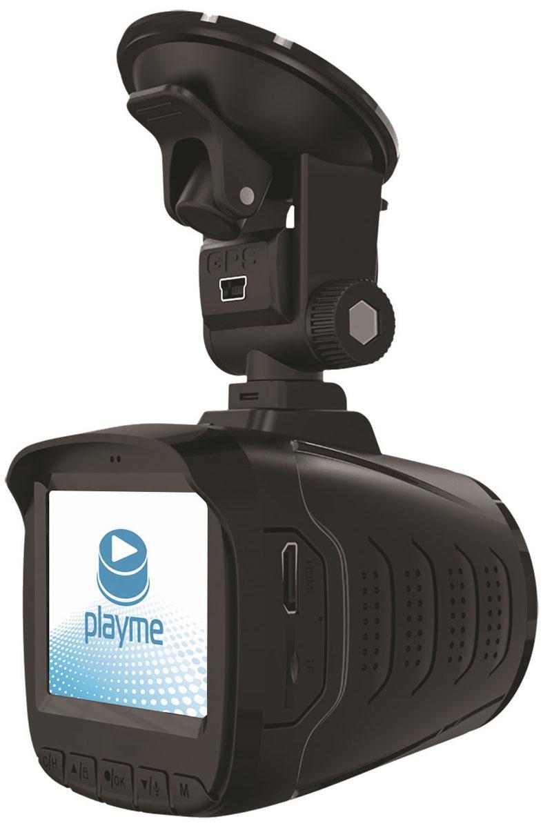 PlayMe P350 Tetra видеорегистратор с радар-детекторомPlayMe-P350Автомобильный видеорегистратор PlayMe P350 Tetra сочетает в себе самое нужно и необходимое для комфортной дороги: видеорегистратор, радар-детектор и GPS-информатор. Модель имеет встроенный емкий литиевый аккумулятор. Устройство легко установить в салоне вашего авто, благодаря надежному креплению на присоске со сквозным питанием. PlayMe P350 Tetra оснащен мощным процессором Ambarella A7LA50 и матрицей 1/3 КМОП, обеспечивающими наилучшую работу устройства. Видеорегистратор ведет съемку в качеству Super HD 2560x1080, 30 кадров в секунду в формате MP4 (H.264). Предусмотрена функция фотосъемки с разрешением 1920x1080, в формате jpg. Видеорегистратор устройства имеет встроенный G-сенсор датчик удара, который запишет и сохранит в специально месте видео (с защитой от перезаписи), при резких изменениях в процессе движения авто. Наилучший обзор обеспечивает шести линзовый стеклянный широкоугольный объектив с ИК-фильтром. Устройство оснащено ярким ЖК-дисплеем...