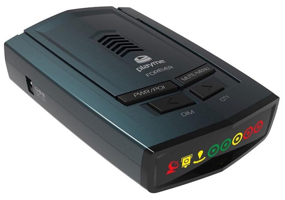 PlayMe Forever радар-детекторPlayMe-FOREVERРадар-детектор PlayMe Forever оснащен современным GPS с базой полицейских радаров. Благодаря GPS-модулю в этом радаре получилось реализовать Умный режим работы, в котором аппарат самостоятельно выбирает чувствительность, в зависимости от скорости вашего движения. Помимо этого, в модели есть ручные регулировки чувствительности, а именно режимы работы Трасса, Город 1, Город 2. PlayMe Forever оснащён высокоэффективным супергетеродинным приёмником с двойным преобразованием частоты, который позволяет получить максимальную дальность оповещения и максимально точно оповещать вас о камерах контроля скорости. Показания радар-детектора выводятся на информативный, символьный дисплей, а также в этом детекторе присутствуют голосовые оповещения на русском языке.