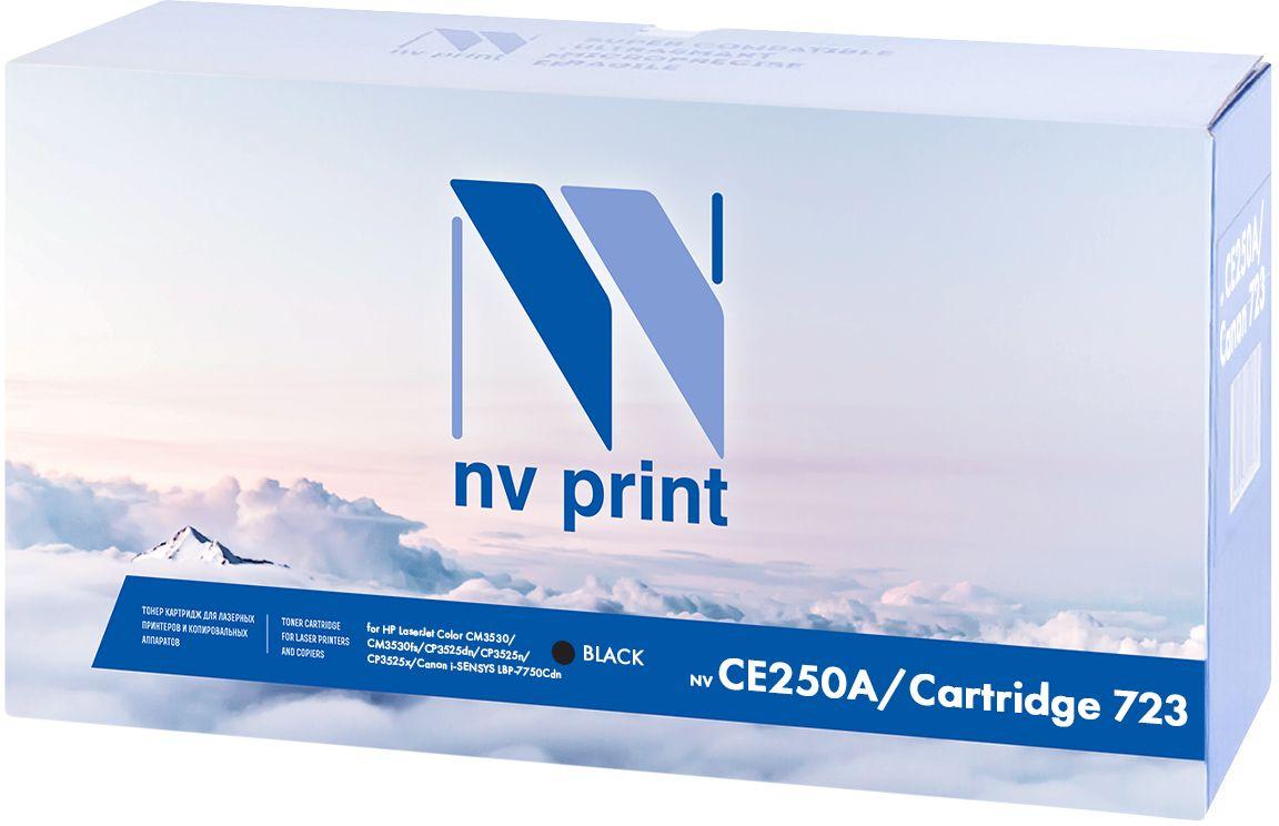 NV Print CE250A/723, Black тонер-картридж для НР LaserJet Color CM3530/CM3530fs/CP3525dn/CP3525n/CP3525x/Canon i-SENSYS LBP-7750CdnNV-CE250A/723BkКартридж лазерный совместимый Canon/HP, производитель NV Print, модель NV-CE250A/Canon 723 Black для НР LaserJet Color CM3530/CM3530fs/CP3525dn/CP3525n/CP3525x/Canon i-SENSYS LBP-7750Cdn, ресурс 5000 копий.