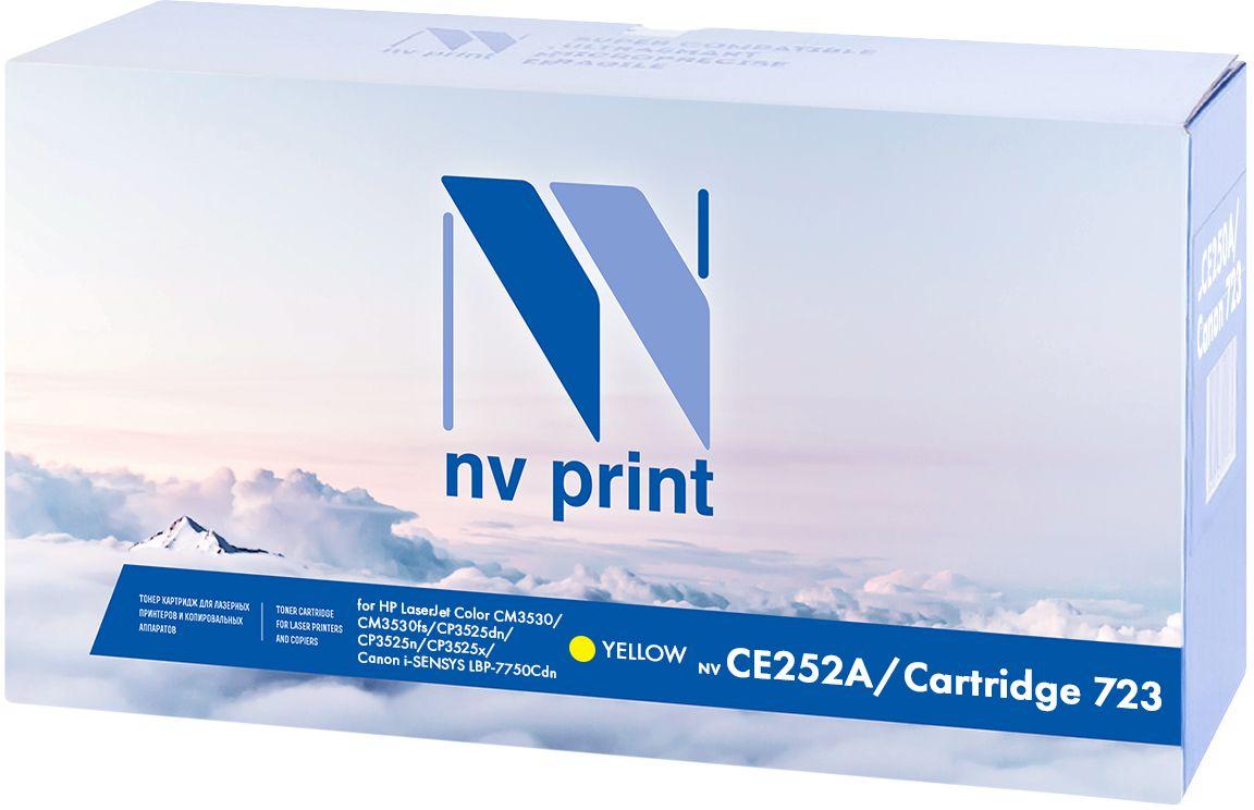 NV Print CE252A/723Y, Yellow тонер-картридж для НР LaserJet Color CP3525/CP3525dn/CP3525n/CP3525x/CM3530/CM3530fs/Canon i-SENSYS LBP7750CdnNV-CE252A/723YКартридж лазерный совместимый Canon/HP, производитель NV Print, модель NV-CE252A/Canon 723 Yellow для НР LaserJet Color CP3525/CP3525dn/CP3525n/CP3525x/CM3530/CM3530fs/Canon i-SENSYS LBP7750Cdn, ресурс 7000 копий.