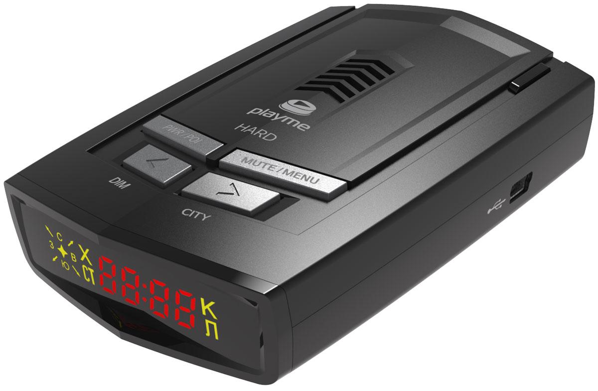 PlayMe Hard радар-детекторPlayMe-HARDРадар-детектор PlayMe Hard отличают прочный традиционный корпус, отличная фиксация на лобовом стекле и качественный GPS-модуль. Устройство находит спутники через несколько секунд после включения. Оно справляется со всеми современными радарами, и с помощью приемника выдает понятные голосовые подсказки. Данная модель имеет уникальный режим работы ГОРОД 3, срабатывания происходят только на стационарные камеры ГИБДД. Именно режим ГОРОД 3 рекомендован для передвижения по крупным городам, а ТРАССА и ГОРОД 1/2/УМНЫЙ режимы - для передвижения между населенными пунктами. Стоит отметить, что срабатывания комментируются голосовыми сообщениями на русском языке. Спектральная чувствительность: 800-1100 нм, обнаружение лазера 360° Возможность обновления GPS базы
