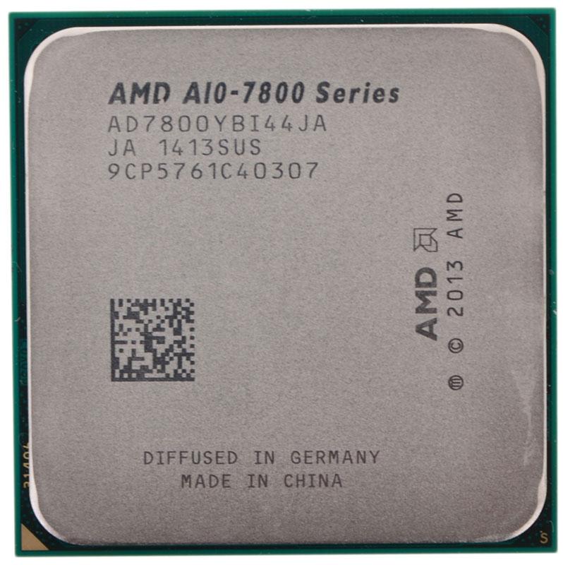 AMD A10-7800 процессор (AD7800YBI44JA)AD7800YBI44JAAMD A10-7800 - универсальный четырехъядерный процессор, который можно использовать при создании мультимедийного компьютера, рабочего офисного, или игрового ПК. В процессоре предусмотрена функция автоматического повышения частоты, которая дает неплохой прирост производительности, что может быть ощутимо в играх. AMD A10-7800 оснащен встроенным графическим ядром, возможностей которого вполне хватит для большинства онлайн-игр и решения повседневных задач. Так что какое-то время можно вполне обойтись и без внешней видеокарты. А энергосберегающие функции данной модели позволят оптимизировать расход электроэнергии в вашей компьютерной системе.
