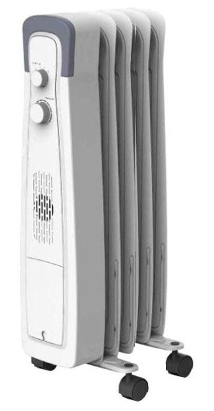 Hyundai H-HO1-05-UI550 радиатор масляныйH-HO1-05-UI550Электрический маслонаполненный радиатор Hyundai H-HO1-05-UI550 предназначен для основного или дополнительного обогрева помещений. Оснащен механическим термостатом для поддержания заданной температуры. Обогреватель состоит из 5 маслонаполненных секций. Предусмотрено ступенчатое переключение мощности нагрева. Для удобства хранения и транспортировки обогреватель имеет отсек для хранения шнура питания.