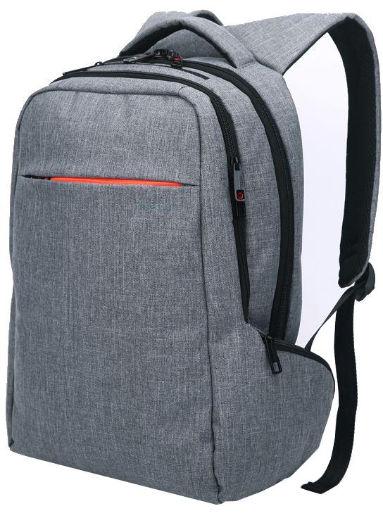 Tigernu T-B3130, Light Grey рюкзак для ноутбука 15T-B3130Рюкзак Tigernu T-B3130 отлично подойдет для работы, учебы или путешевствий. Сделан из высокопрочного,водоотталкивающего материала. Довольно легкий. Отделение для ноутбука и планшета со вставкой из защитной пены, которое защитит ваши устройства от царапин и других повреждений. S-образная конструкция спинки с воздухопроницаемой губкой обеспечивает идеальную мягкую посадку. Основное отделение с двойной молнией (защита от кражи).