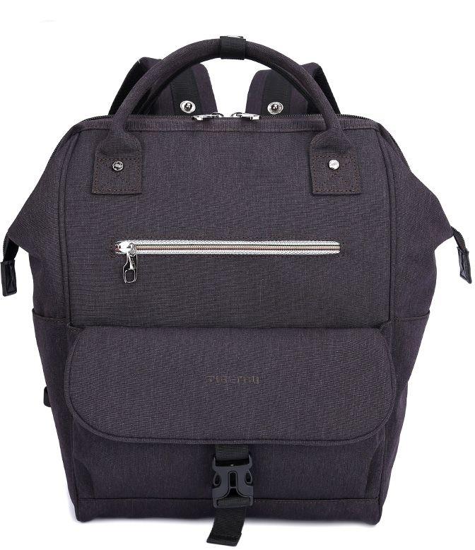 Tigernu T-B3184, Dark Grey рюкзак для ноутбука 14T-B3184Рюкзак Tigernu T-B3184 отлично подойдет для работы, учебы или путешевствий. Сделан из высокопрочного,водоотталкивающего материала. Довольно легкий. Основное отделение с двойной молнией (защита от кражи). На задней части рюкзака находится скрытый карман, где можно хранить свои документы и ценные вещи. Задний ремень с защелкой для регулирования длины в 3 разных положениях.